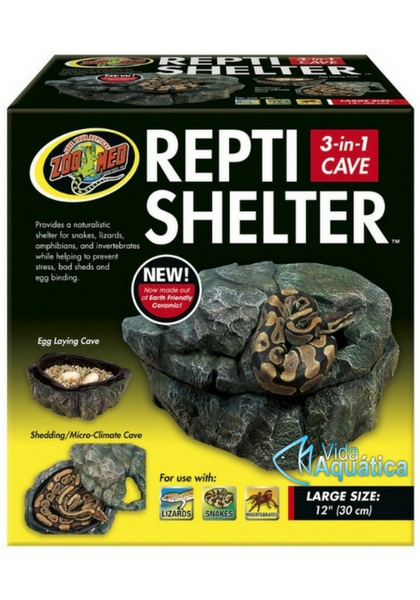 "Zoo Med Repti Shelter 3 in 1 Large 12"" 30 cm RC-32"
